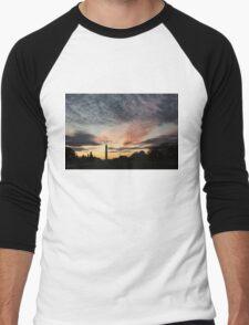 Mother Nature Painted the Sky Over Washington, DC Spectacular Men's Baseball ¾ T-Shirt