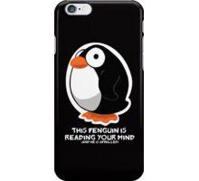 Telepathic Penguin: iPhone Case iPhone Case/Skin