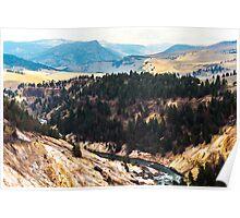 Montana Canyon Poster