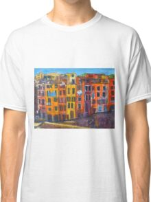 Riomaggiore Facade, CinqueTerre Classic T-Shirt