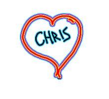 i love Chris heart  Photographic Print