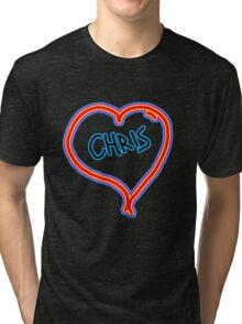 i love Chris heart  Tri-blend T-Shirt