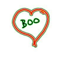 i love boo heart  Photographic Print
