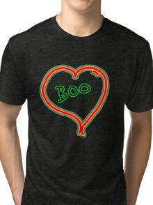 i love boo heart  Tri-blend T-Shirt