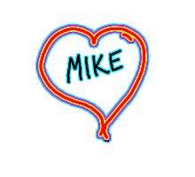 i love mike heart Photographic Print