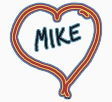 i love mike heart Kids Clothes