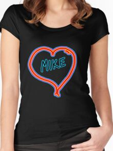 i love mike heart Women's Fitted Scoop T-Shirt
