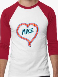 i love mike heart Men's Baseball ¾ T-Shirt