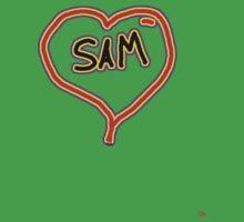 i love SAM heart  Kids Clothes