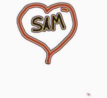 i love SAM heart  One Piece - Long Sleeve