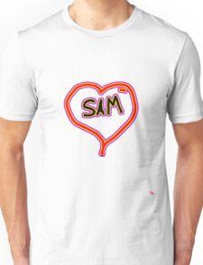 i love SAM heart  Unisex T-Shirt