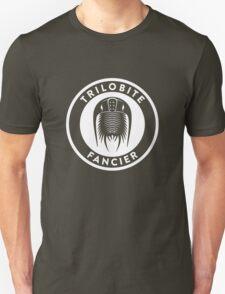 Trilobite Fancier (white on dark) Unisex T-Shirt