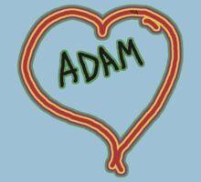 i love Adam heart  Baby Tee