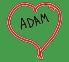i love Adam heart  Kids Clothes