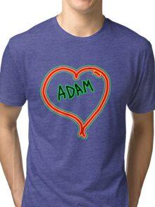 i love Adam heart  Tri-blend T-Shirt