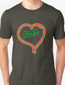 i love Adam heart  Unisex T-Shirt