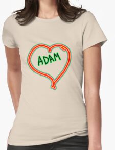 i love Adam heart  Womens Fitted T-Shirt