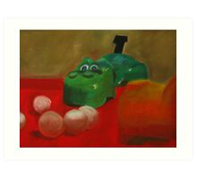 The Hungry Hippo Art Print