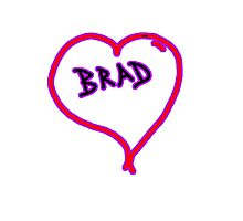i love brad heart  Photographic Print