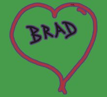 i love brad heart  Kids Clothes