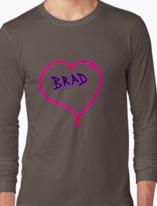i love brad heart  Long Sleeve T-Shirt