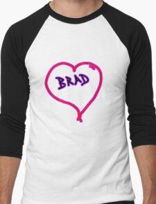 i love brad heart  Men's Baseball ¾ T-Shirt