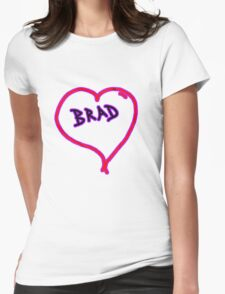 i love brad heart  Womens Fitted T-Shirt