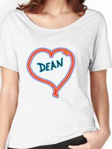 i love dean heart  Women's Relaxed Fit T-Shirt
