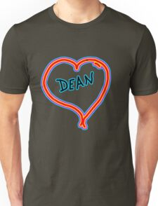 i love dean heart  Unisex T-Shirt