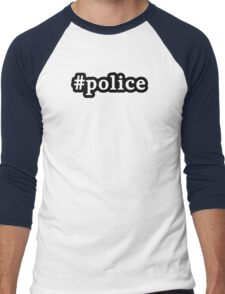 Police - Hashtag - Black & White Men's Baseball ¾ T-Shirt