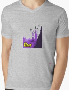 Halloween spooky alone at the castle  Mens V-Neck T-Shirt
