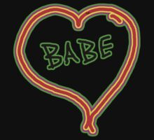 I LOVE babe heart  by Tia Knight