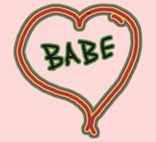 I LOVE babe heart  Baby Tee