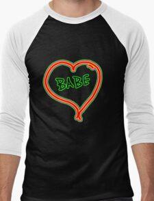 I LOVE babe heart  Men's Baseball ¾ T-Shirt