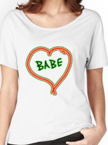 I LOVE babe heart  Women's Relaxed Fit T-Shirt