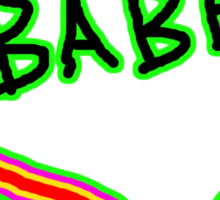 I LOVE babe heart  Sticker