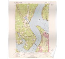 USGS Topo Map Washington State WA Gig Harbor 241266 1953 24000 Poster