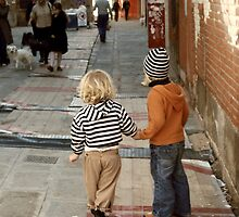 Brother and Sister-Venice, Italy by Deborah Downes