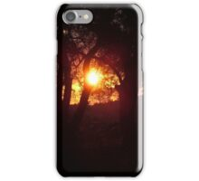 Sunset in the olives iPhone Case/Skin