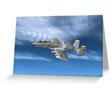 Fairchild Republic A-10 Thunderbolt II Greeting Card
