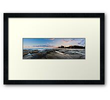 Point Cartwright Sunset Panorama Framed Print