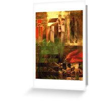 Rossetti Tetris. Greeting Card