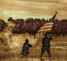 Civil War Re-enactment by Sheryl Langston