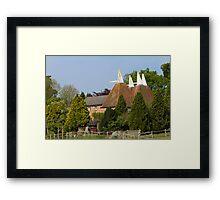 Oast House conversion Framed Print