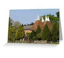 Oast House conversion Greeting Card