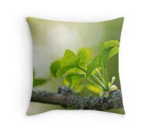 Ginkgo Biloba leaves Throw Pillow