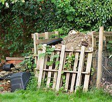 Garden Compost Heap by Sue Robinson