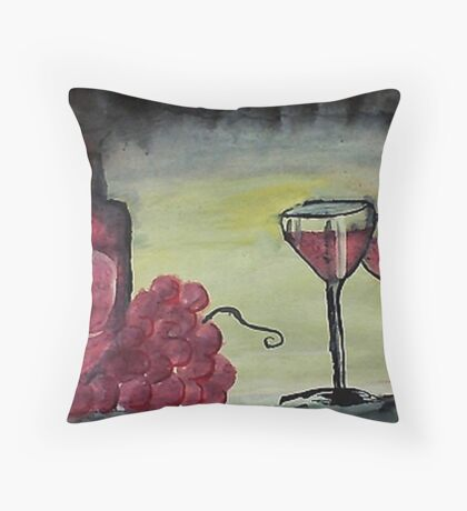 Let's celebrate, watercolor Throw Pillow