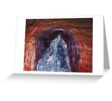 Natures tunnel, watercolor Greeting Card