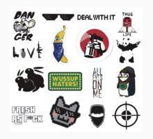 Thug life collage Kids Clothes